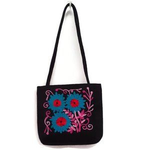 Ladies Hand Bag Handembroidered on both sides